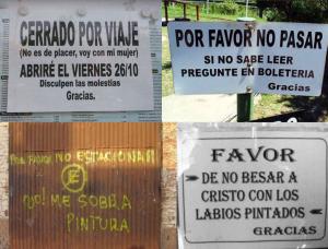 Entrada Germinal Lado B Una selección de avisos y carteles curiosos